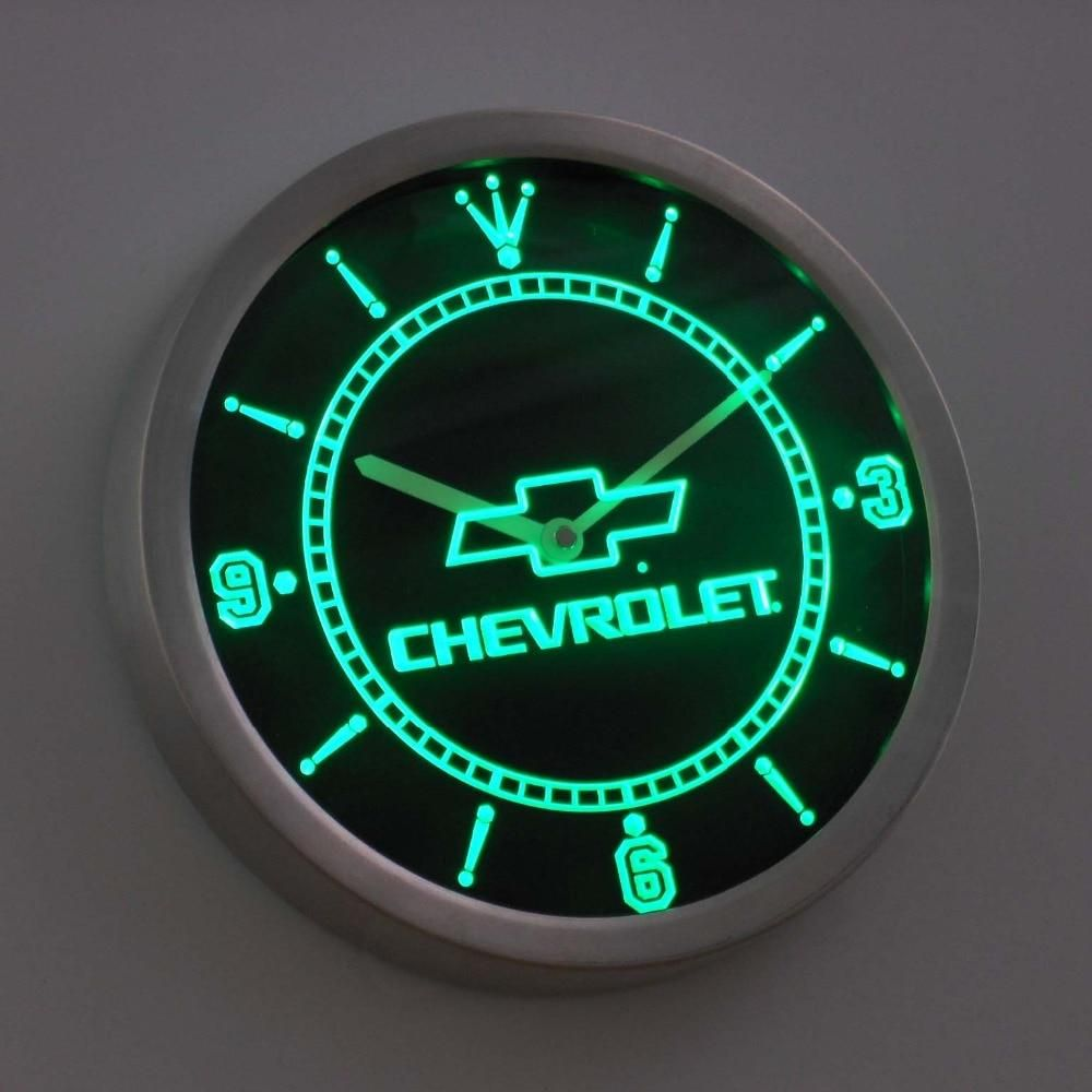 Chevrolet Neon Sign Led Wall Clock Led Wall Clock Neon Clock Neon Signs