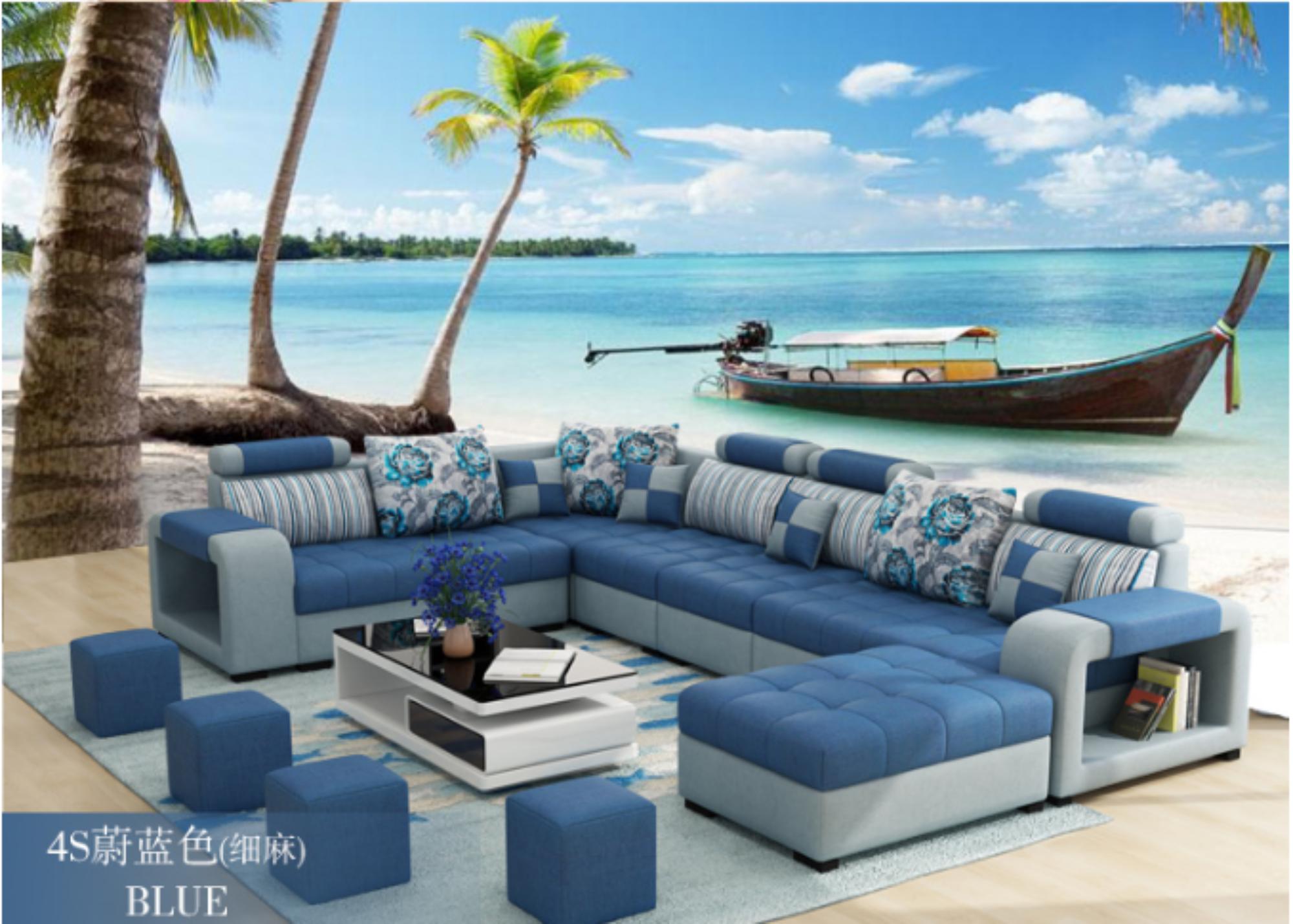 Modern Luxury U Type Fabric Sofa Modern Sofa Designs Living