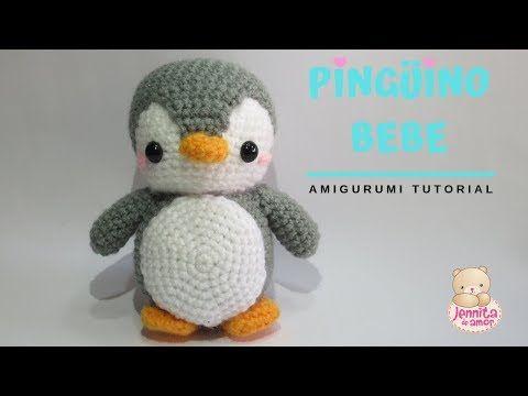 BEBE PINGüINO Amigurumi Tutorial Crochet - YouTube #amigurumitutorial