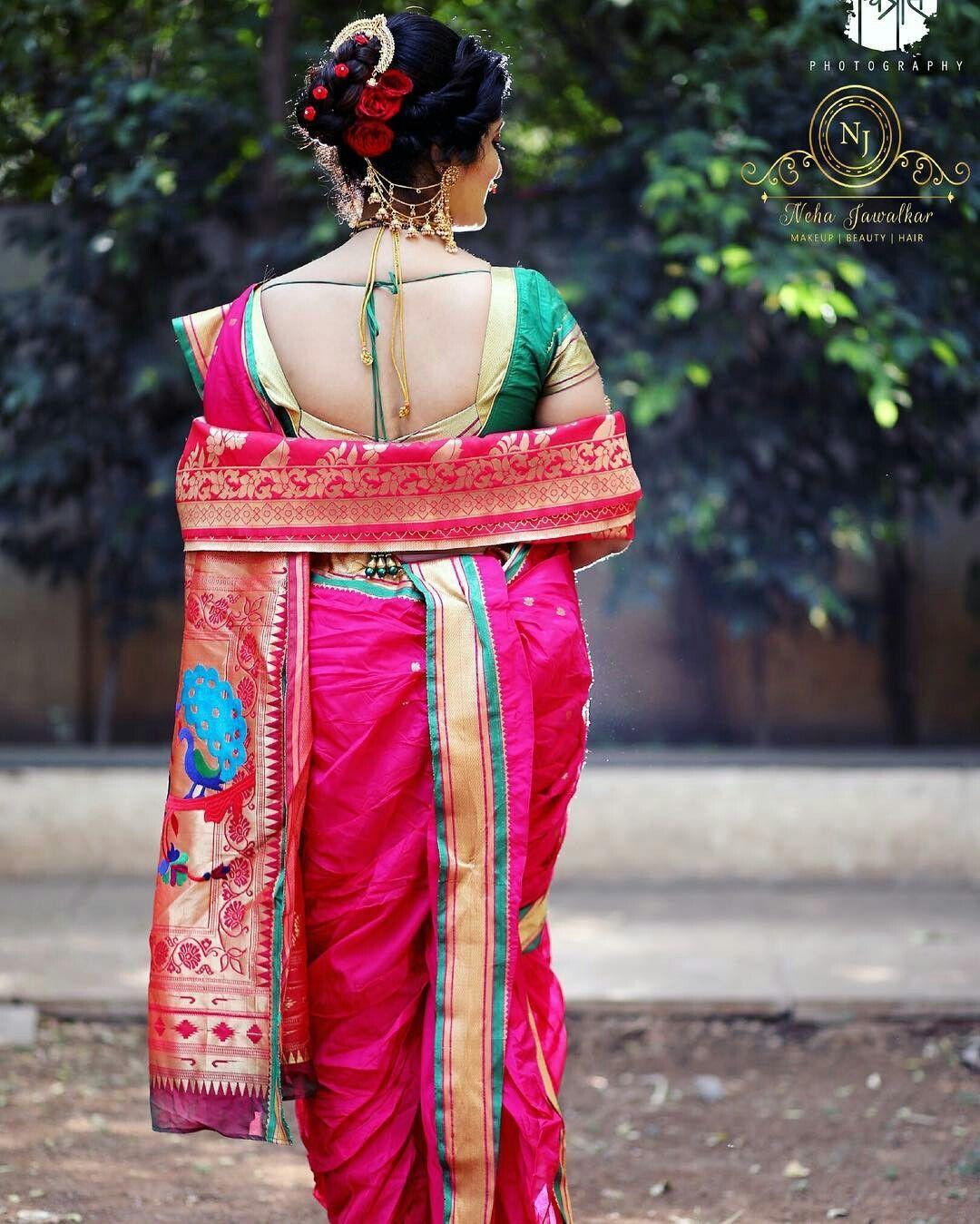 Pin By Raklak On Lavani Indian Bridal Hairstyles Saree