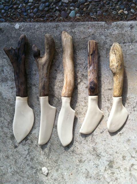 linda fahey ceramics - cheese knives/driftwood handles https://www.facebook.com/photo.php?fbid=433763296657207=a.313678461999025.81507.313670401999831=1