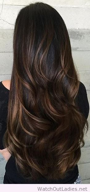 Dark Hair With Caramel Highlights Pinterest