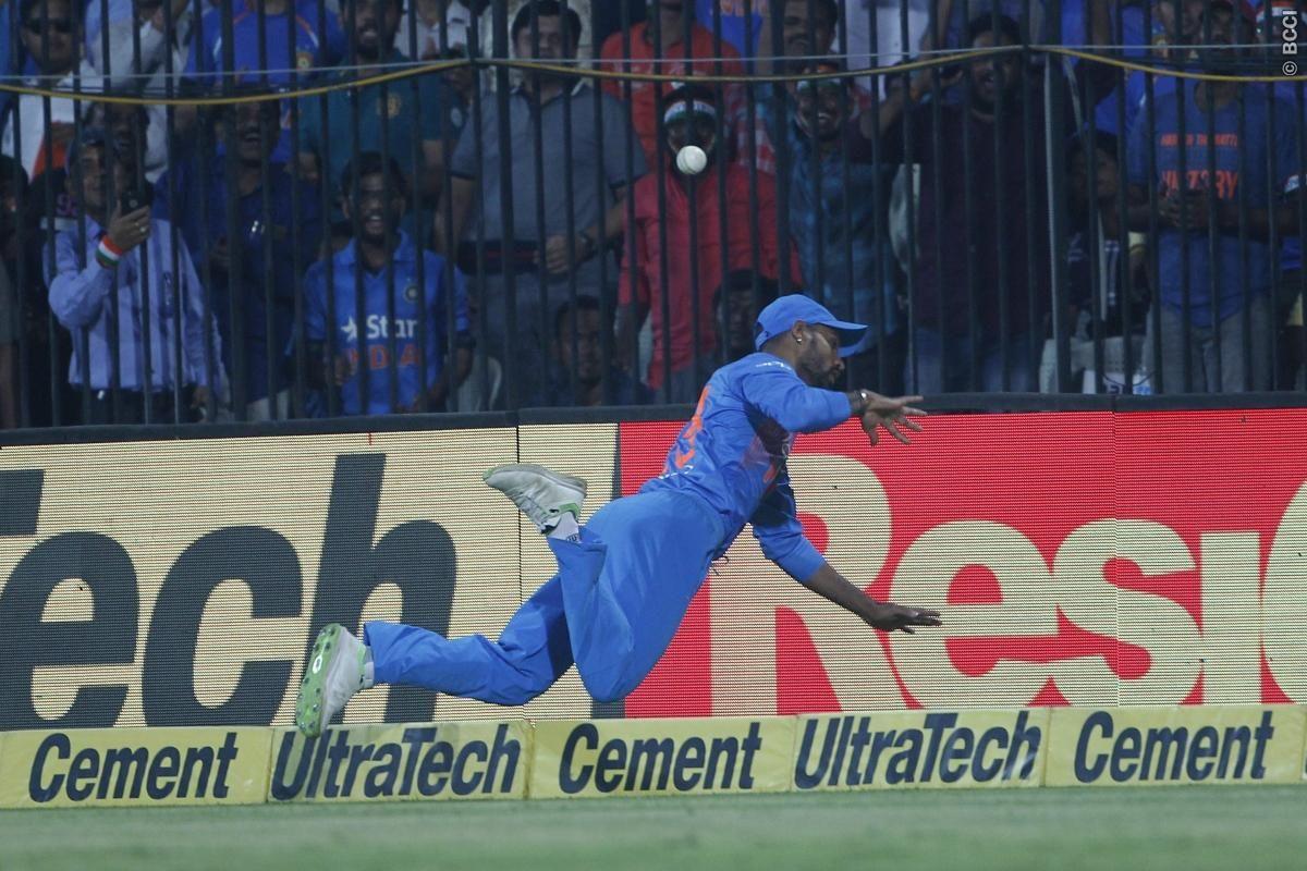 Watch Shikhar Dhawan Saves A Six With Stunning Fielding