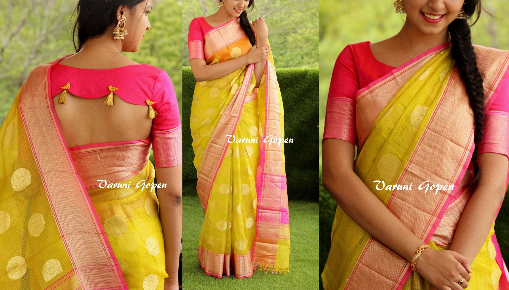 VARUNI GOPEN DESIGNS.  <br> Contact : varunigopen@gmail.com. <br> Call : 098491 25889.
