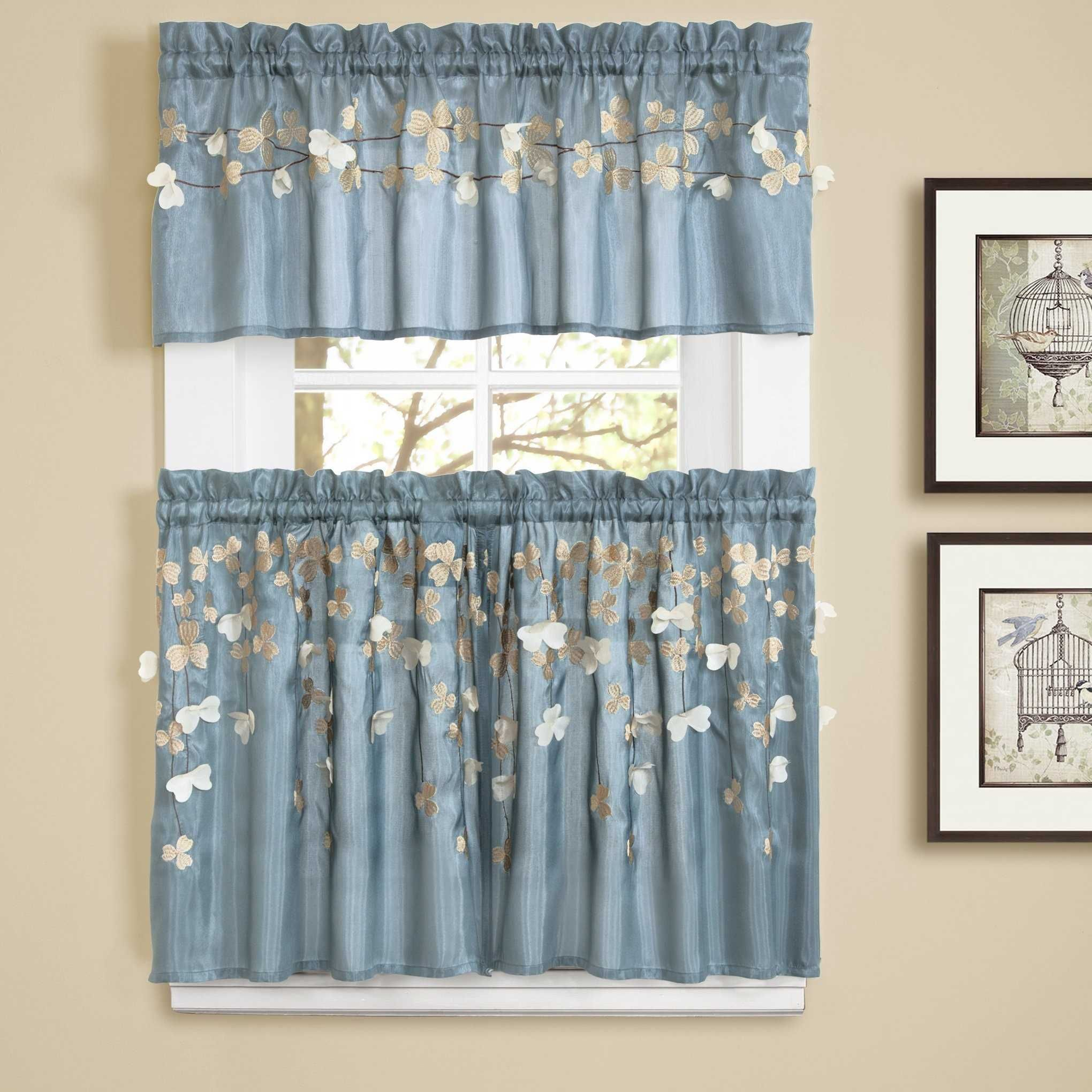 Blue And White Kitchen Curtains Ideas Also Fascinating Amp