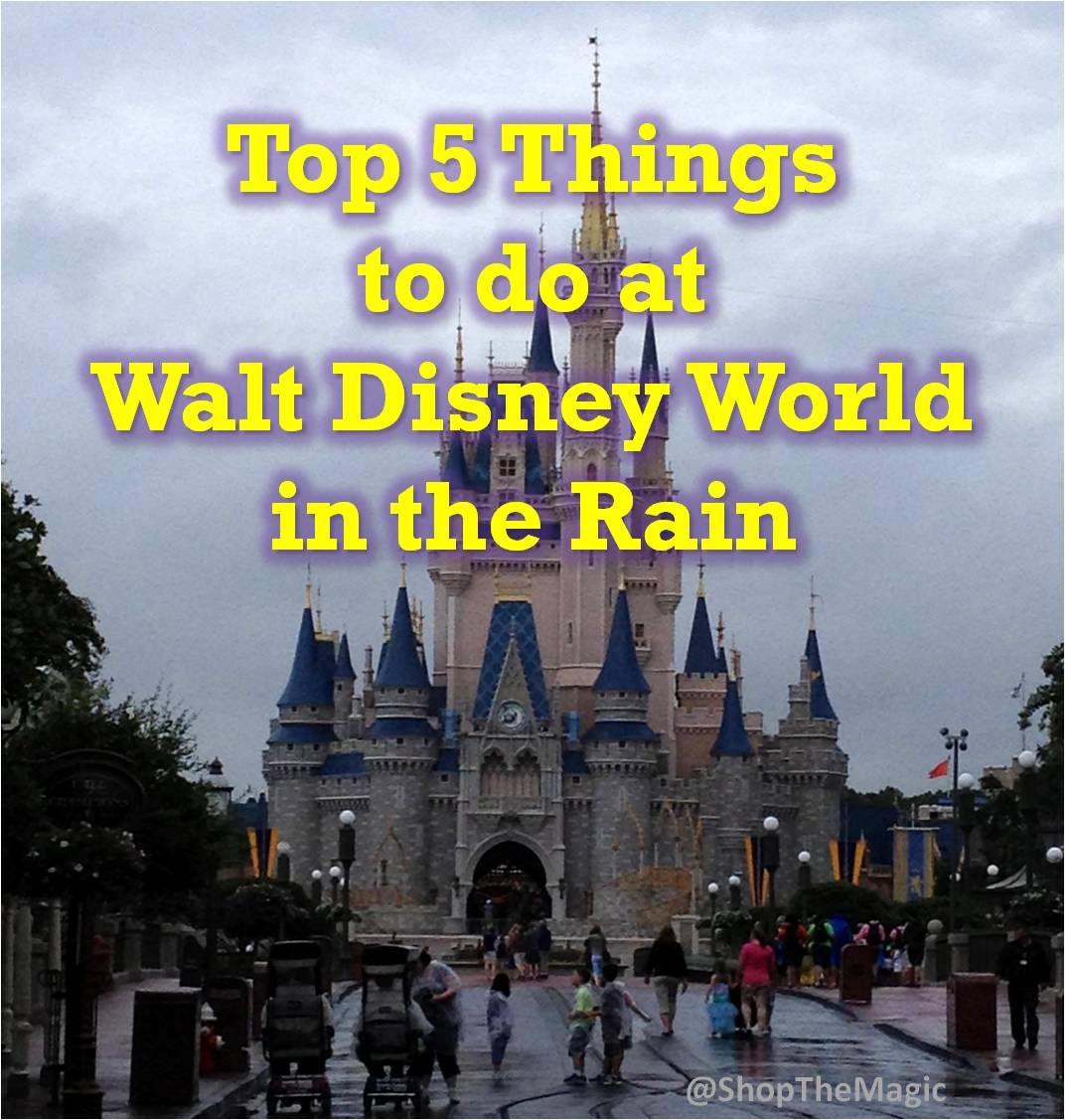 Top 5 Things to do at Walt Disney World in the Rain