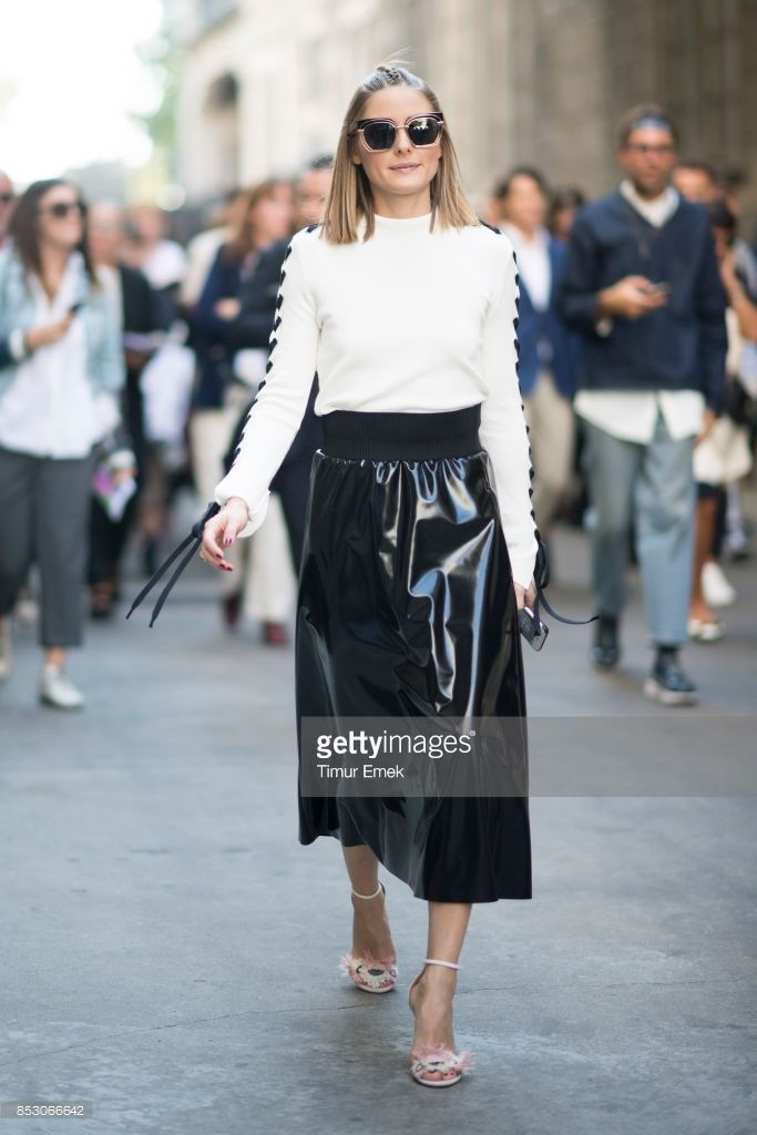 efdd739c3a152 Olivia Palermo seen before the MSGM fashion show Milan Fashion Week  Spring Summer 2018 on September 24, 2017 in Milan, Italy.