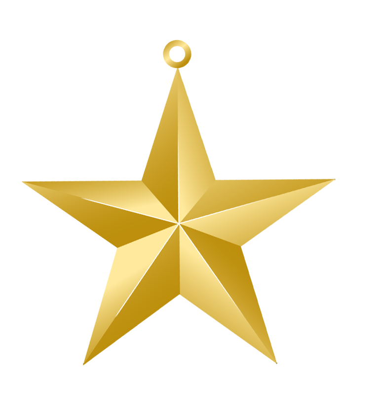 Christmas Gold Star Ornament PNG Picture | Christmas Clip Art 2 ...