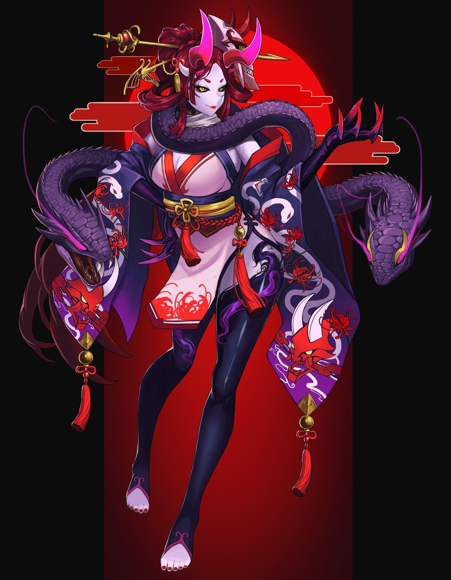 Evelynn in Blood Moon skin | Korean video game fan art! in 2019