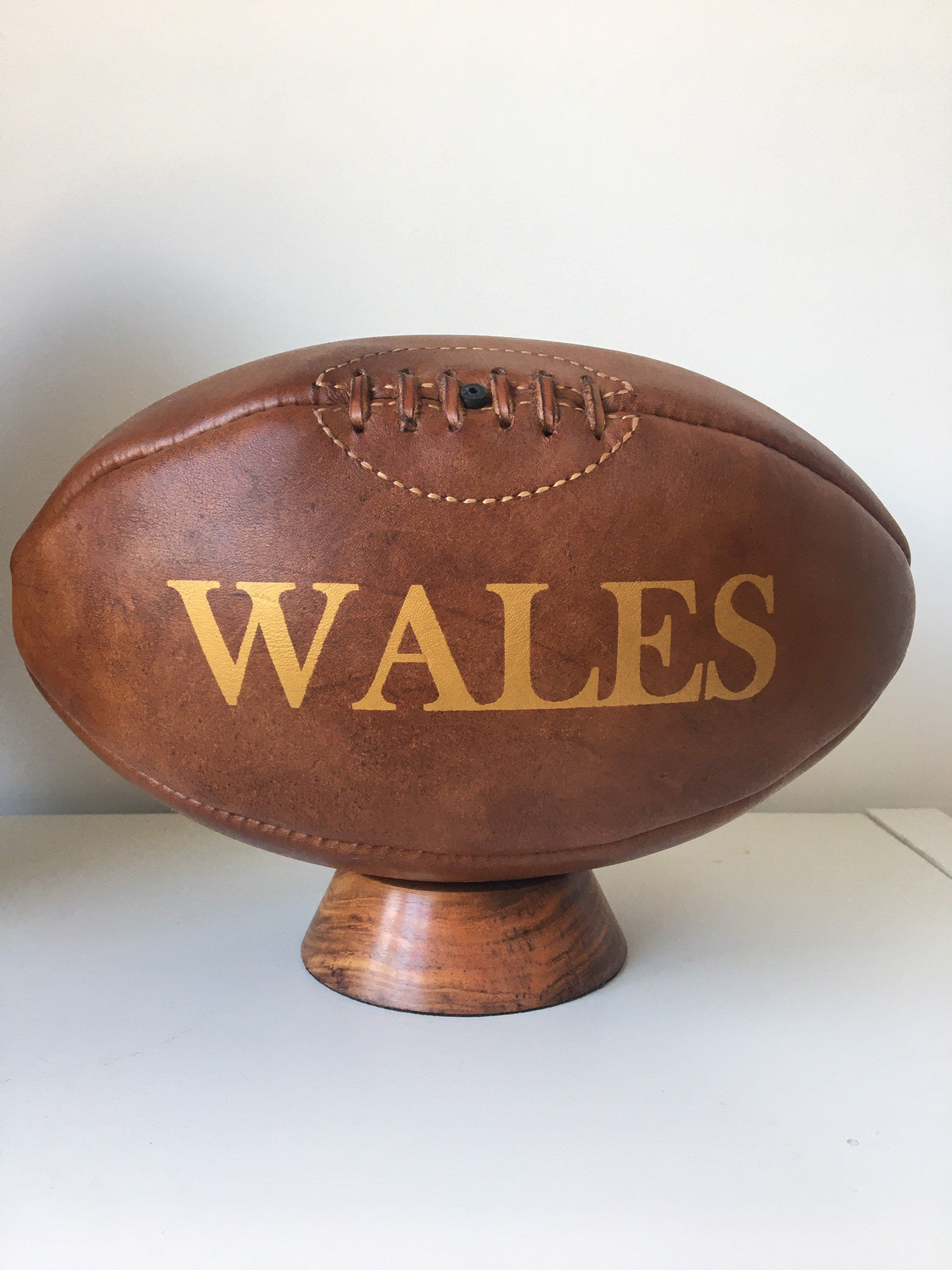 Rugby Vintage Wales Rugby Ball Leather Rugby Ball Vintage Sports Gift For Men Teenager Gift Corporate Gift Man Cave In 2020 Rugby Ball Rugby Vintage Teenager Gifts