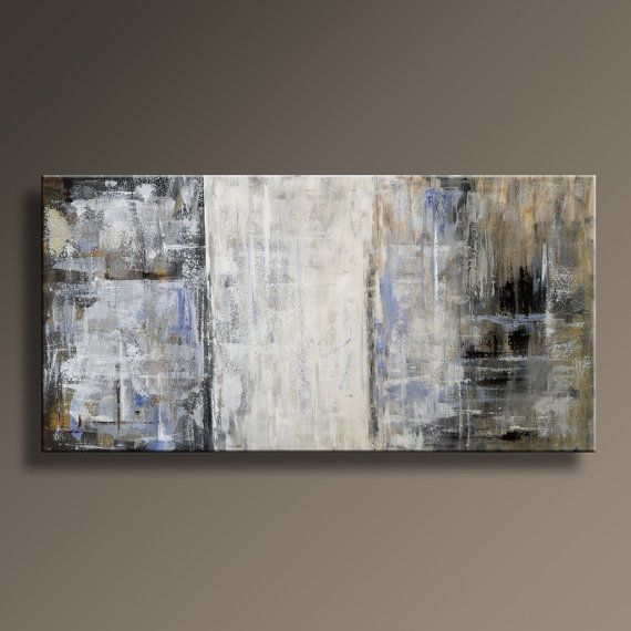 48 Quot Original Abstract Painting Canvas Art Rustic Neutral