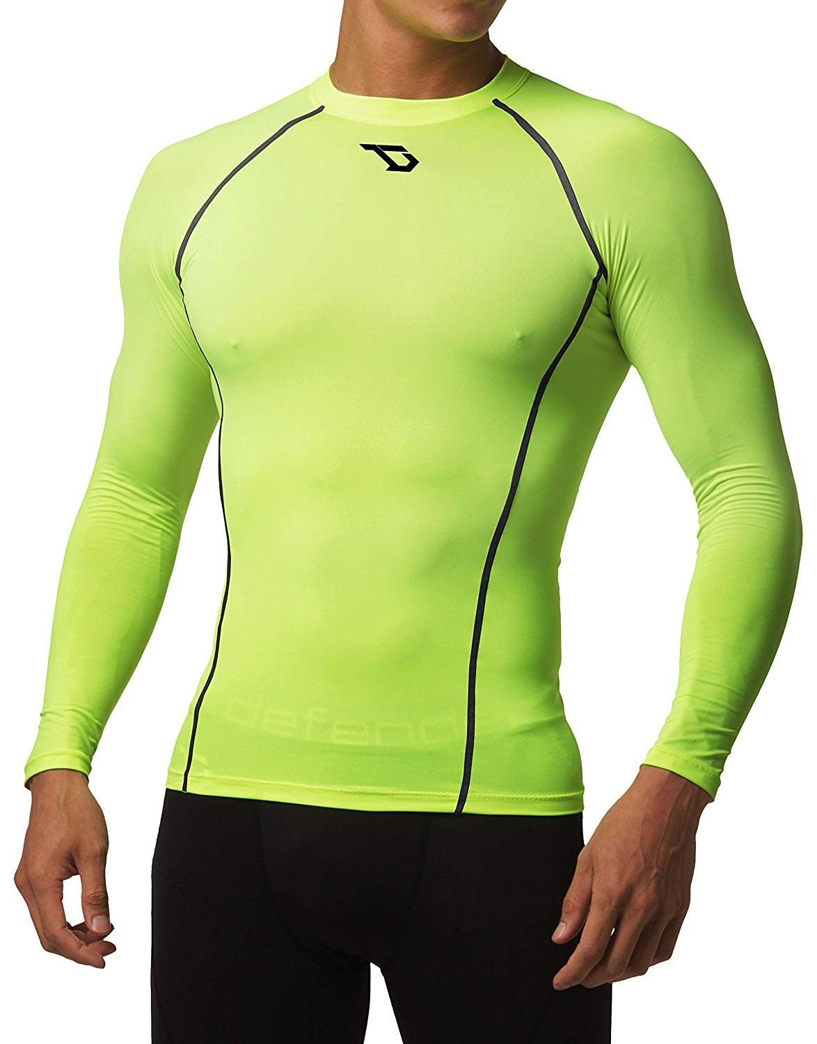 Mens Cool Dry Compression Baselayer Short Sleeve T Shirts Yoga Athletic Workout Fitness Tops