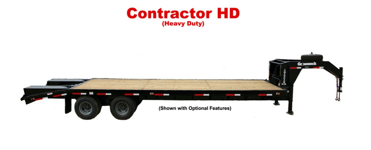 Gooseneck Trailers Contractor HD Flatbed Trailers