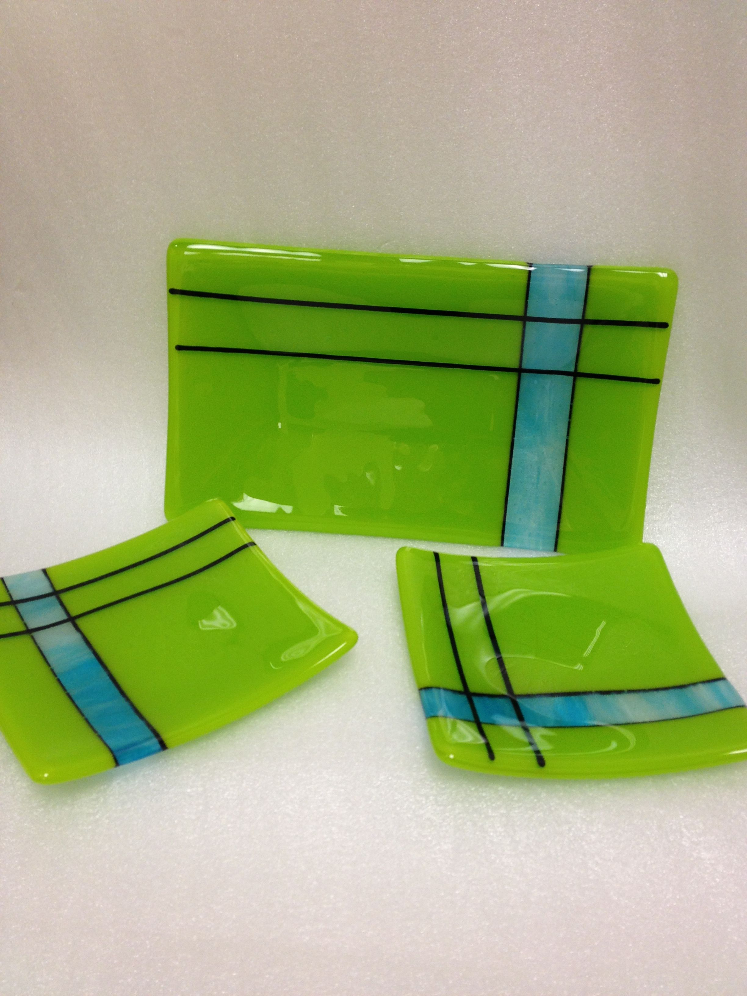 Fused glass sushi set fused glass glass fusing projects