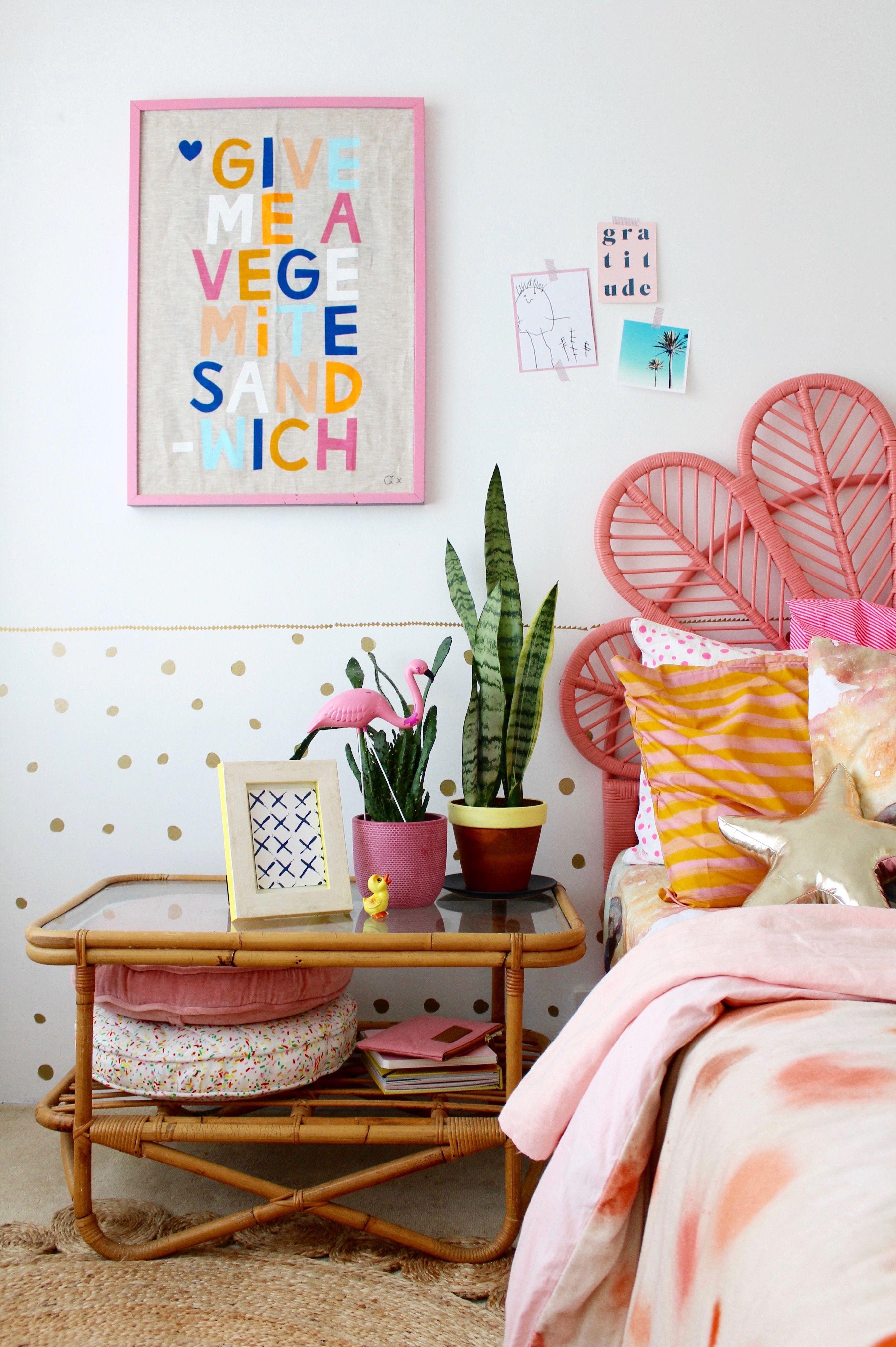 bohemian bedroom for kids -same space new look! kids interior