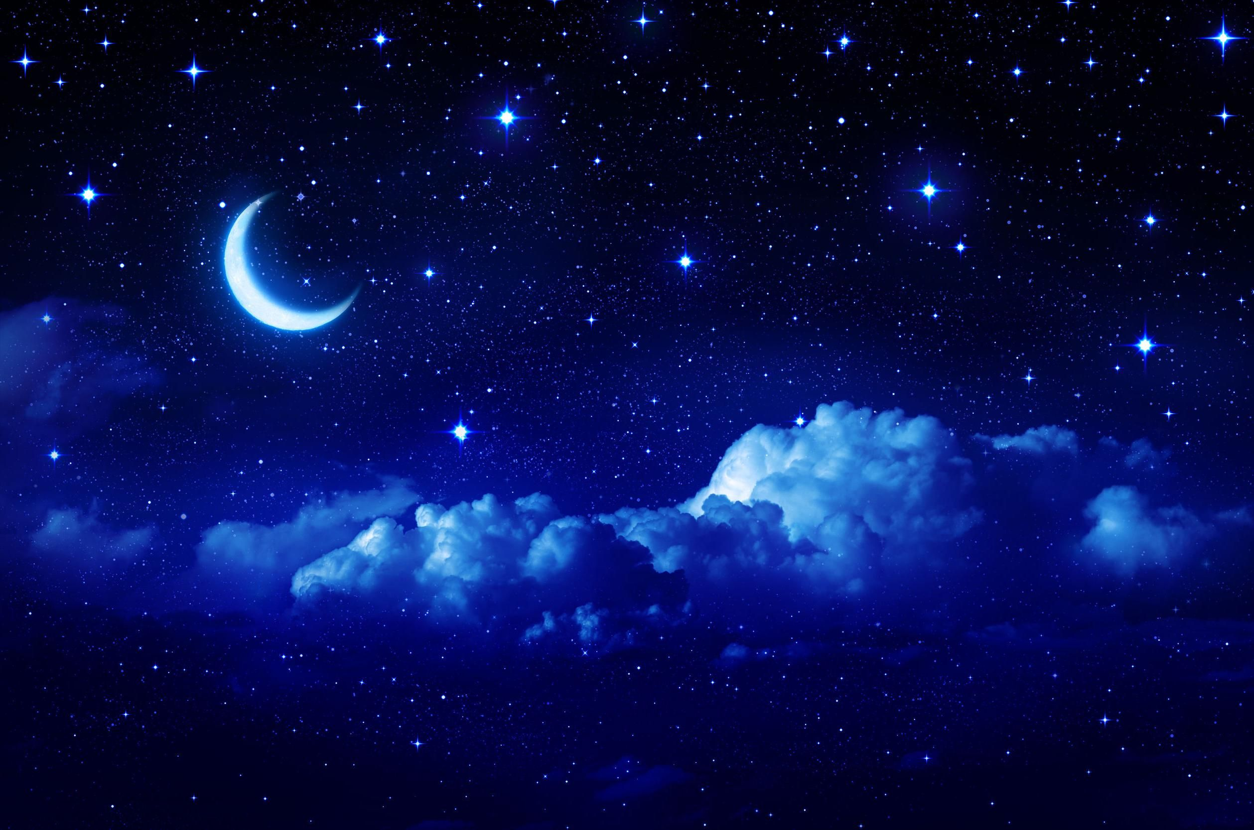 Blue Night Sky Wallpaper Free Download With Images Night Sky