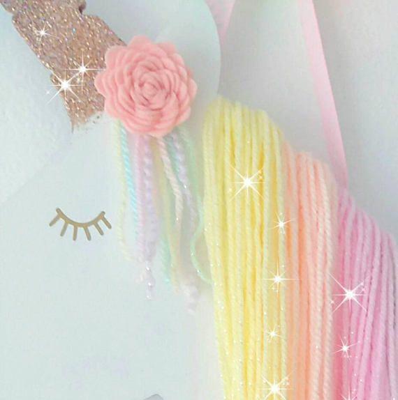 Regenbogen Unicorn Haarbogenhalter #littleunicorn