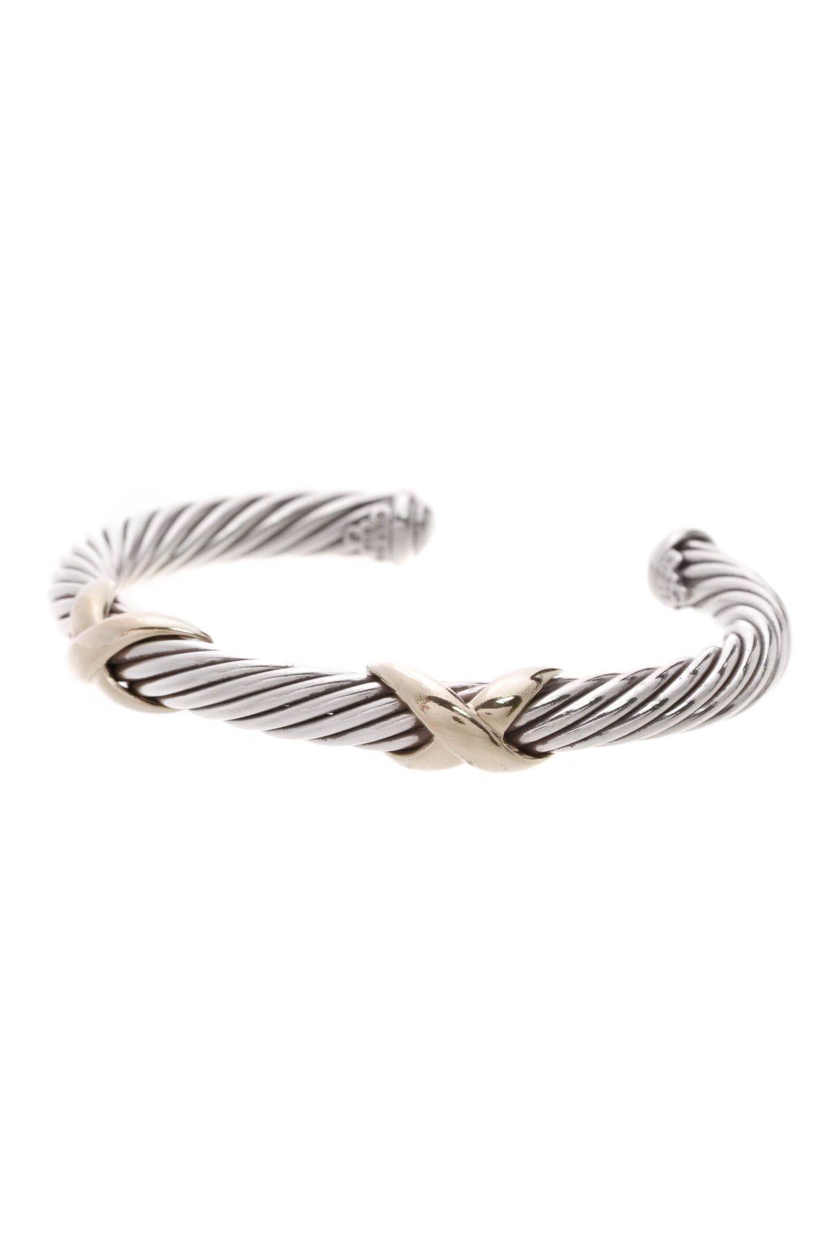 David Yurman Double X Cable Bracelet