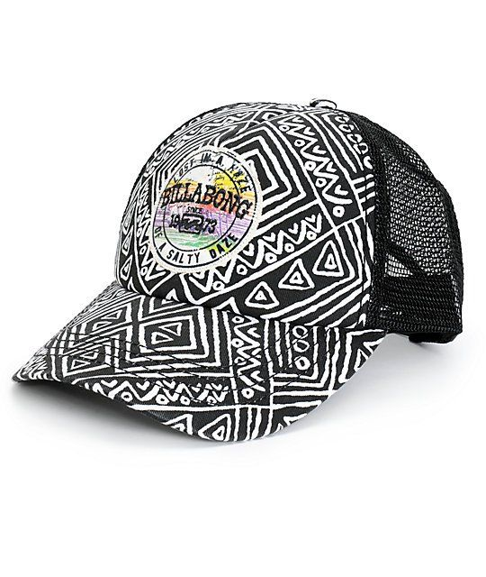 6221a74fa91 Finish off any outfit with the style of this trucker hat that features a  geo print