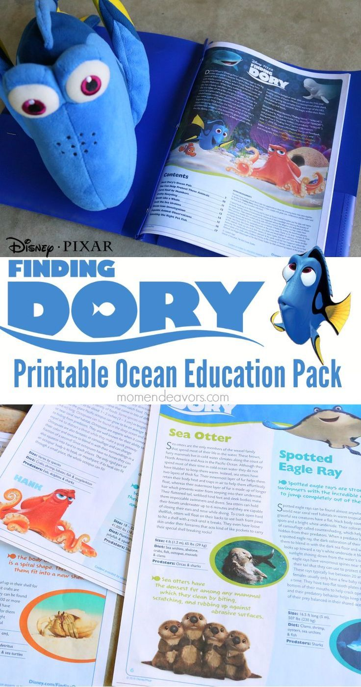 disney pixar u0027s finding dory free printable educational packets a