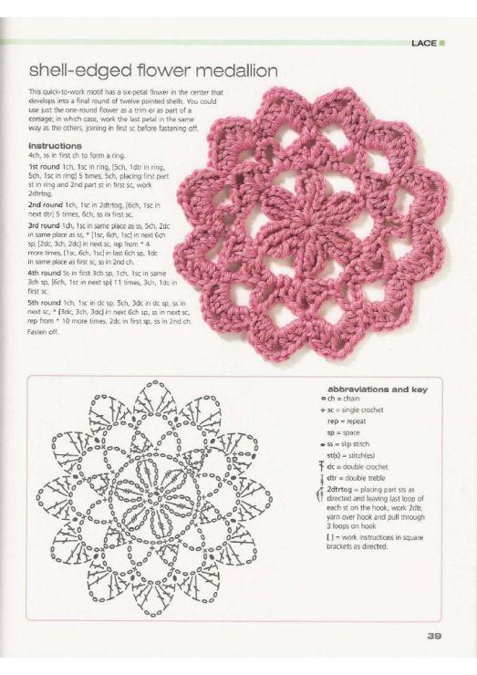 motiv 389 | Crochet | Pinterest | Patrones y Flores