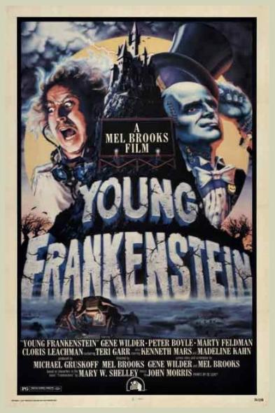 Original Movie Poster - Young Frankenstein. c. 1974 - my sense of humor.