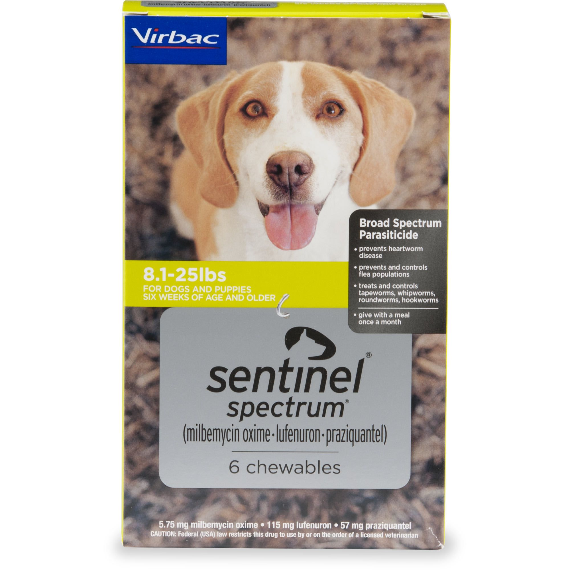 Sentinel Spectrum Chewables For Dogs 8 1 To 25 Lbs 6 Pack Petco In 2020 Heartworm Heartworm Medication Petco