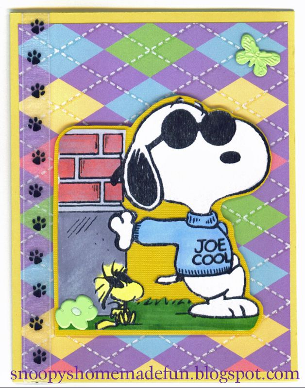 SNOOPY TUESDAY ~ JOE COOL CARD