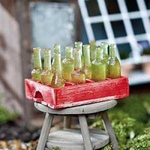 Miniature Soda Crate and Bottles