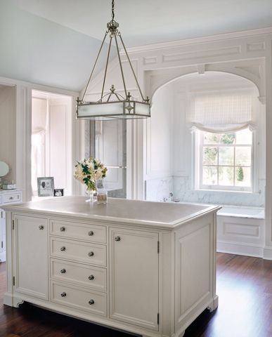 Ferguson & Shamamian Architects    Combination bath and dressing room. Can't take my eyes off the beautiful light fixture!