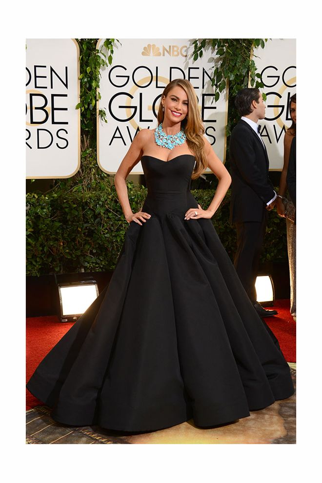 #Globos de Oro 2014. La actriz colombiana, la más #sexy sobre la pasarela.