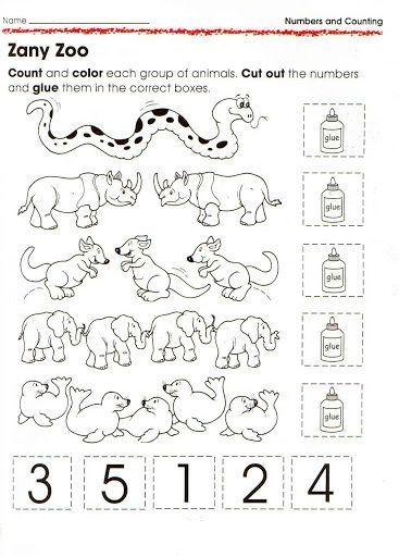 animal number count worksheet for kids (4) | Crafts and Worksheets ...