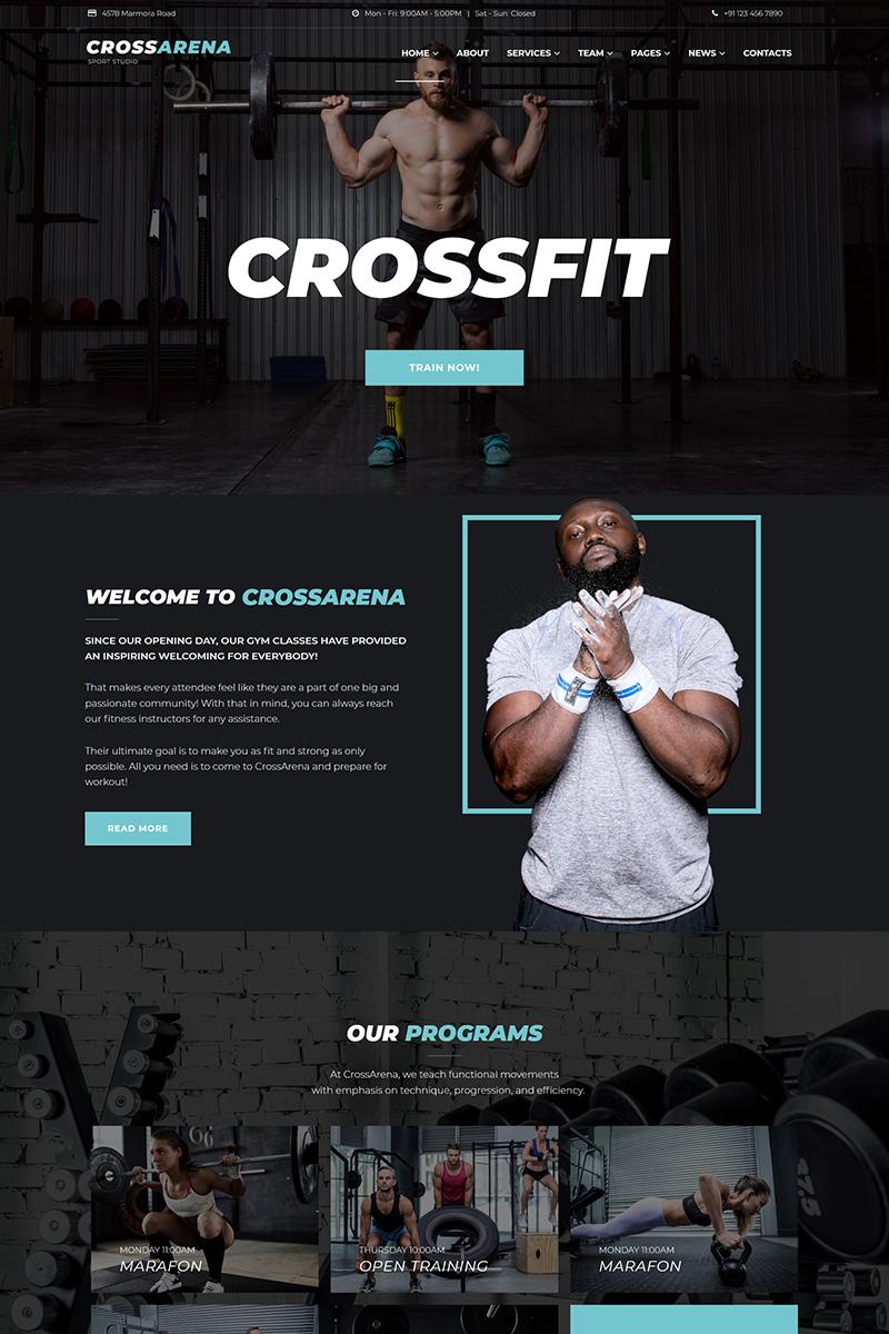 Cross Arena - Crossfit Studio Elementor WordPress Theme #Crossfit #Arena #Cross #WordPress #fitnessw...