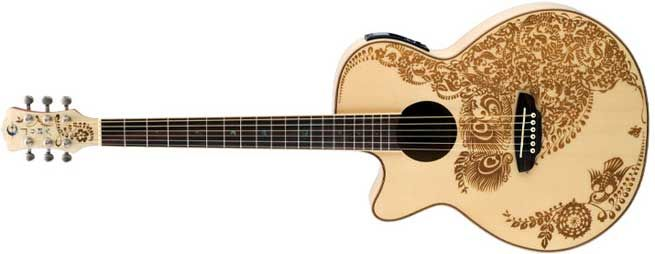 Luna Left Handed Acoustic Guitars Acoustic Guitar Guitar Kids Left Handed Acoustic Guitar