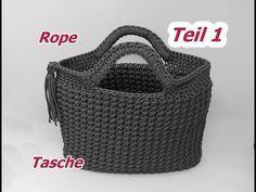 Tasche Häkeln aus ROPE mit Sternchenmasche - Teil 1