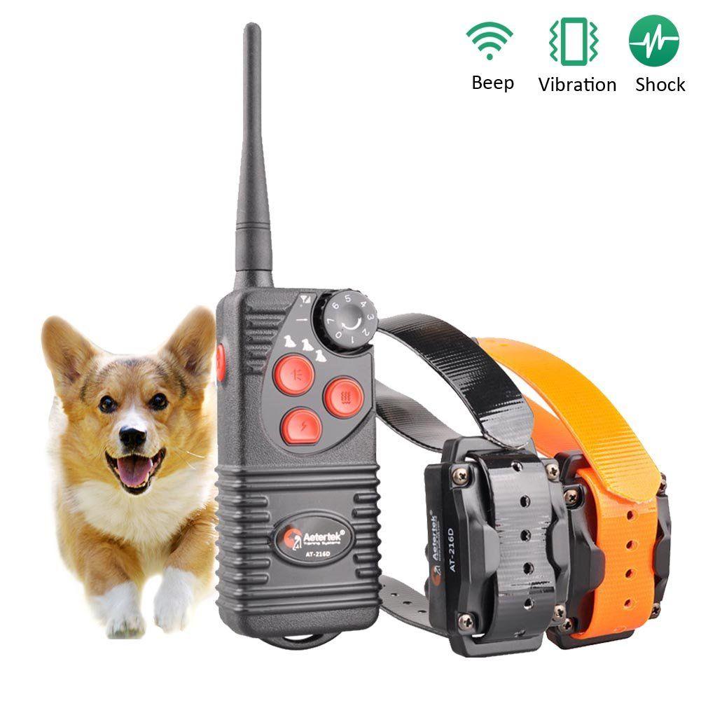 Aetertek At 216w Waterproof Rechargeable 2 Dogs Training Collar