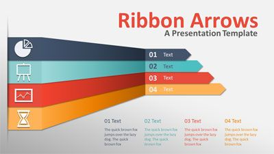 Id   Ribbon Arrows Compare  Powerpoint Template