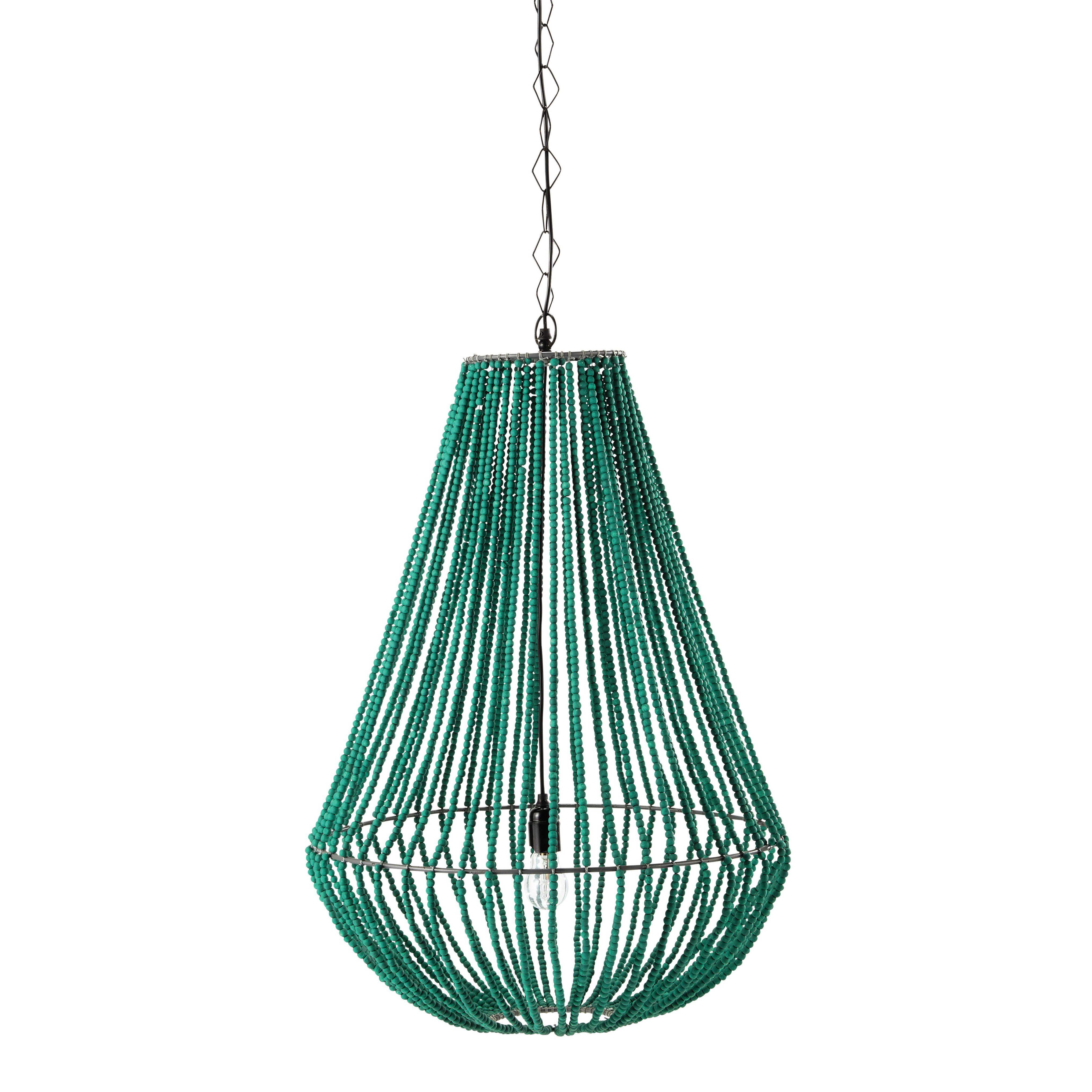 Suspension en métal et bois verte D 56 cm APUCARANA | °Idées ...