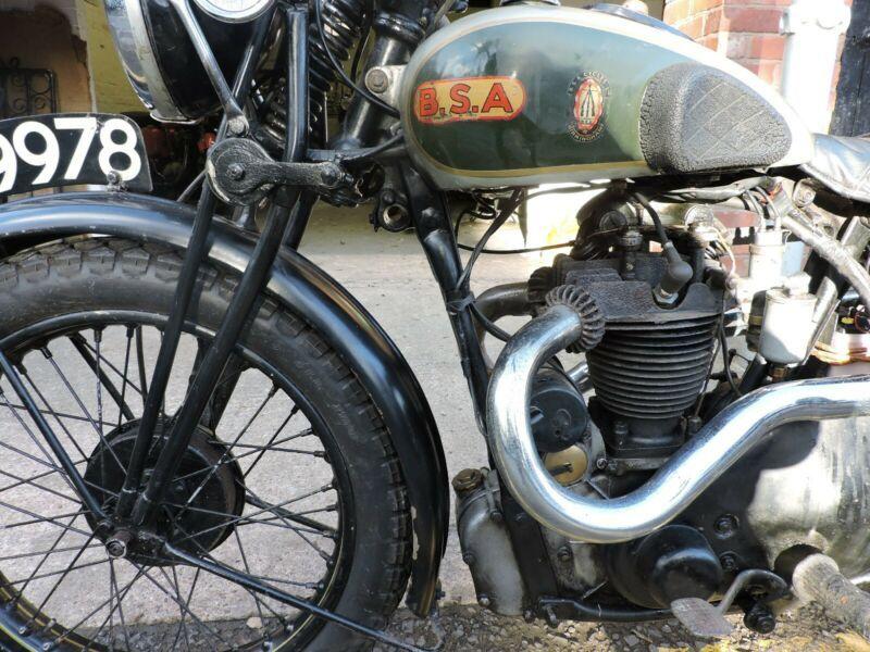 1934 BSA Blue Star 350 Bsa motorcycle, Old bikes