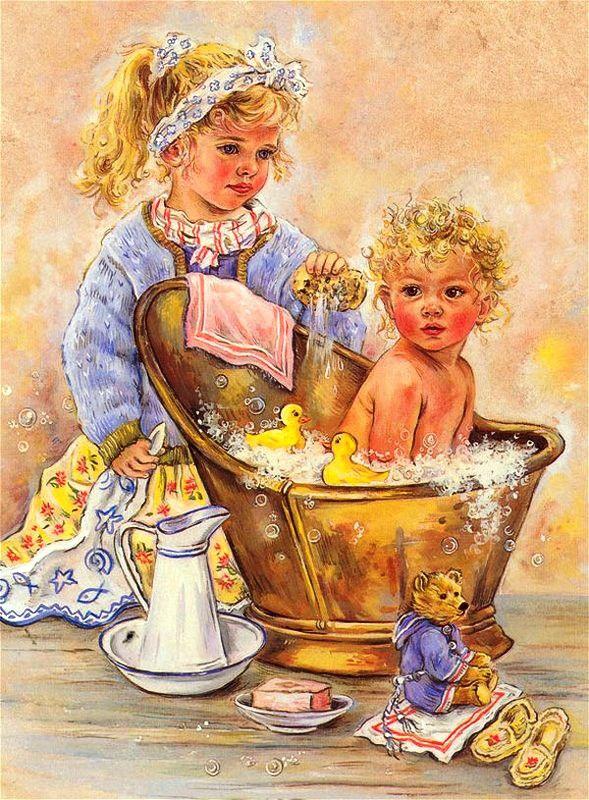 Картинки декупаж дети в живописи