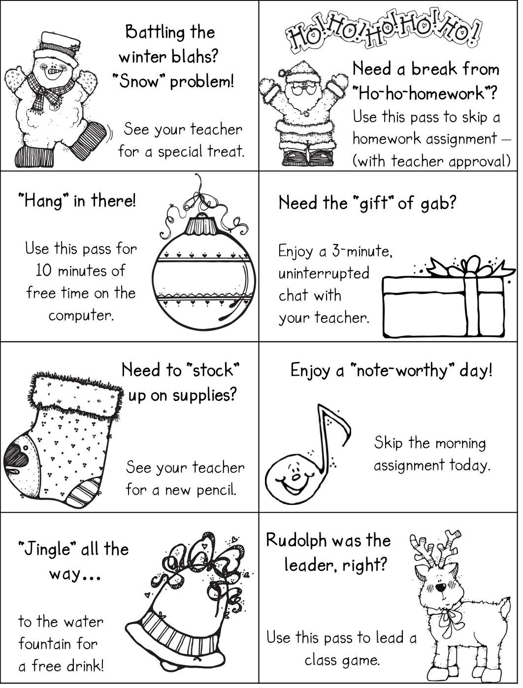 Modified Version Of The Holiday Passes From Mailbox Magazine Using Djinkers Clipart And Font