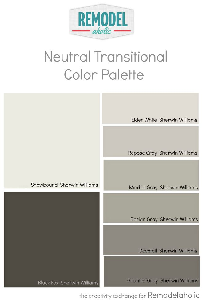 Whole house paint color palette using one undertone - Whole house interior paint palette ...