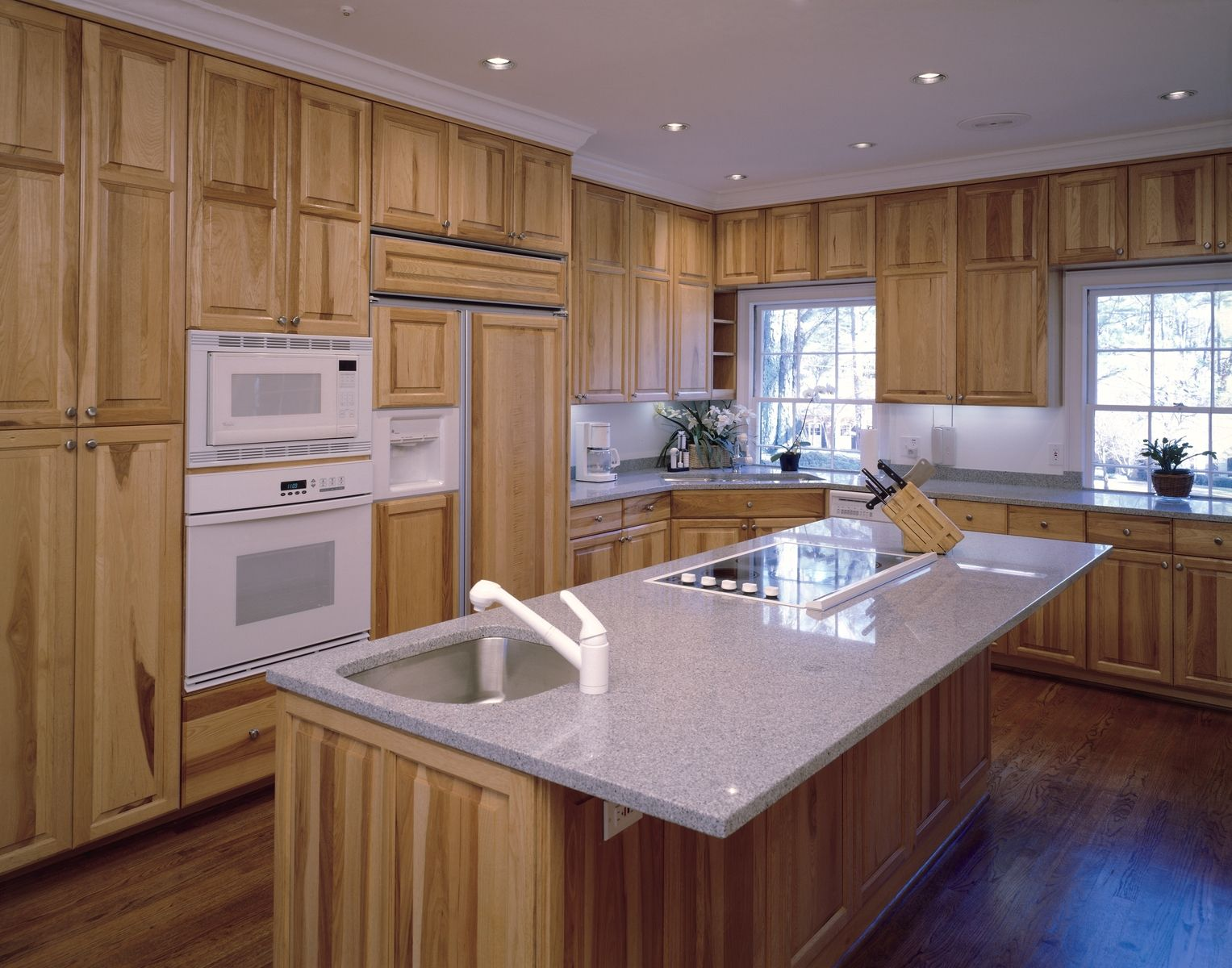 Hickory kitchen cabinets log home living pinterest for Hickory kitchen cabinets