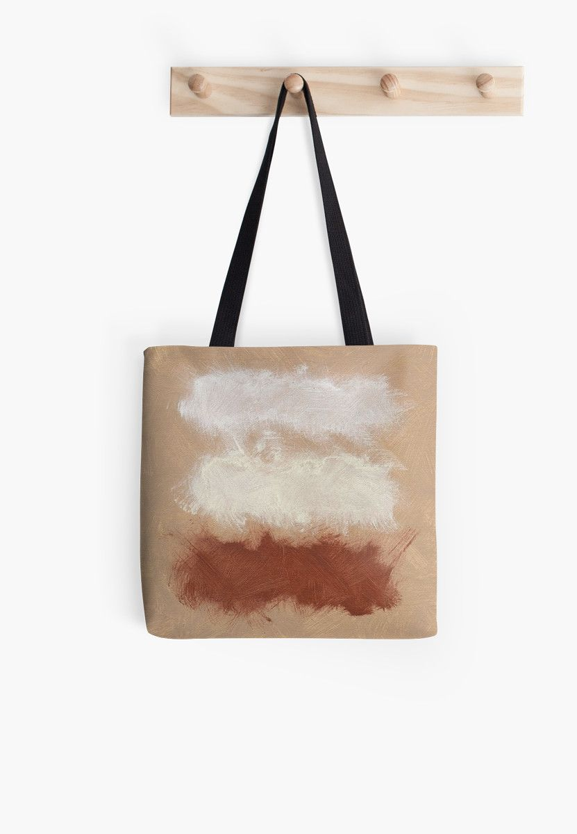 Rothko Inspired Abstract Painterly Modern Art Tote Bags. Rothko Inspired Spiced Berry Canyon Dusk Color Palette. Painterly brush strokes in a calming color palette by Corbin Henry. • Also buy this artwork on bags, apparel, phone cases, and more.