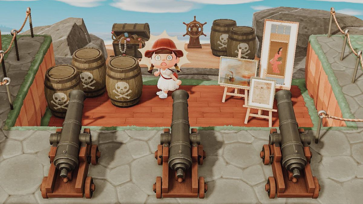 Acnh Redd S Secret Beach Antique Bird Cages Animal Games Animal Crossing