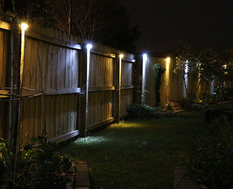 four super bright solar led fence lights lighting garden feit electric string light bulbs