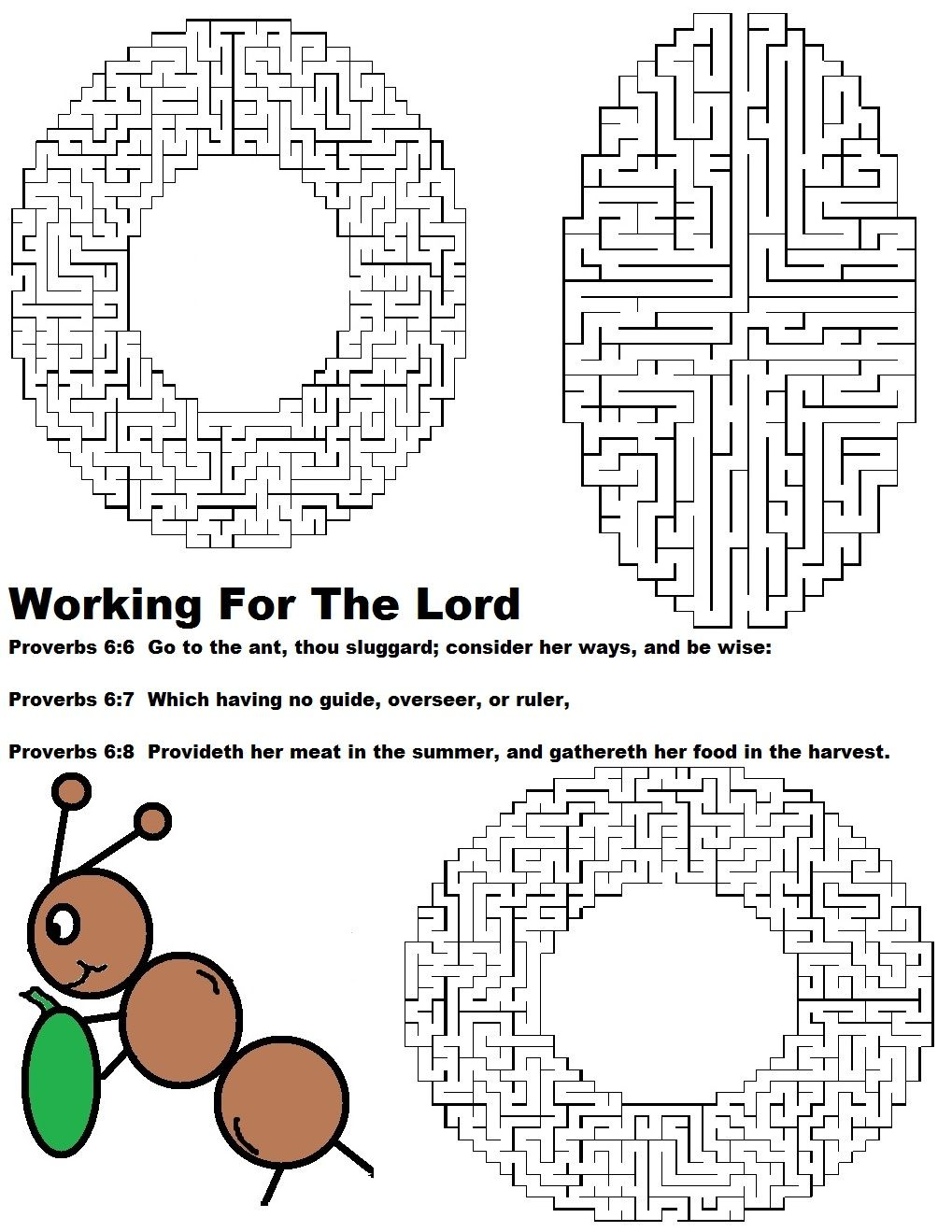 Ant Labor Day Working For The Lord Maze.jpg 1,019×1,319