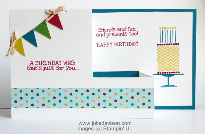 Julie's Stamping Spot -- Stampin' Up! Project Ideas Posted Daily: VIDEO + PDF: Pull Out Fun Fold Card Tutorial
