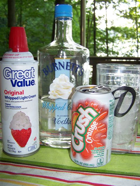 Whipped Cream Vodka Creamsicle