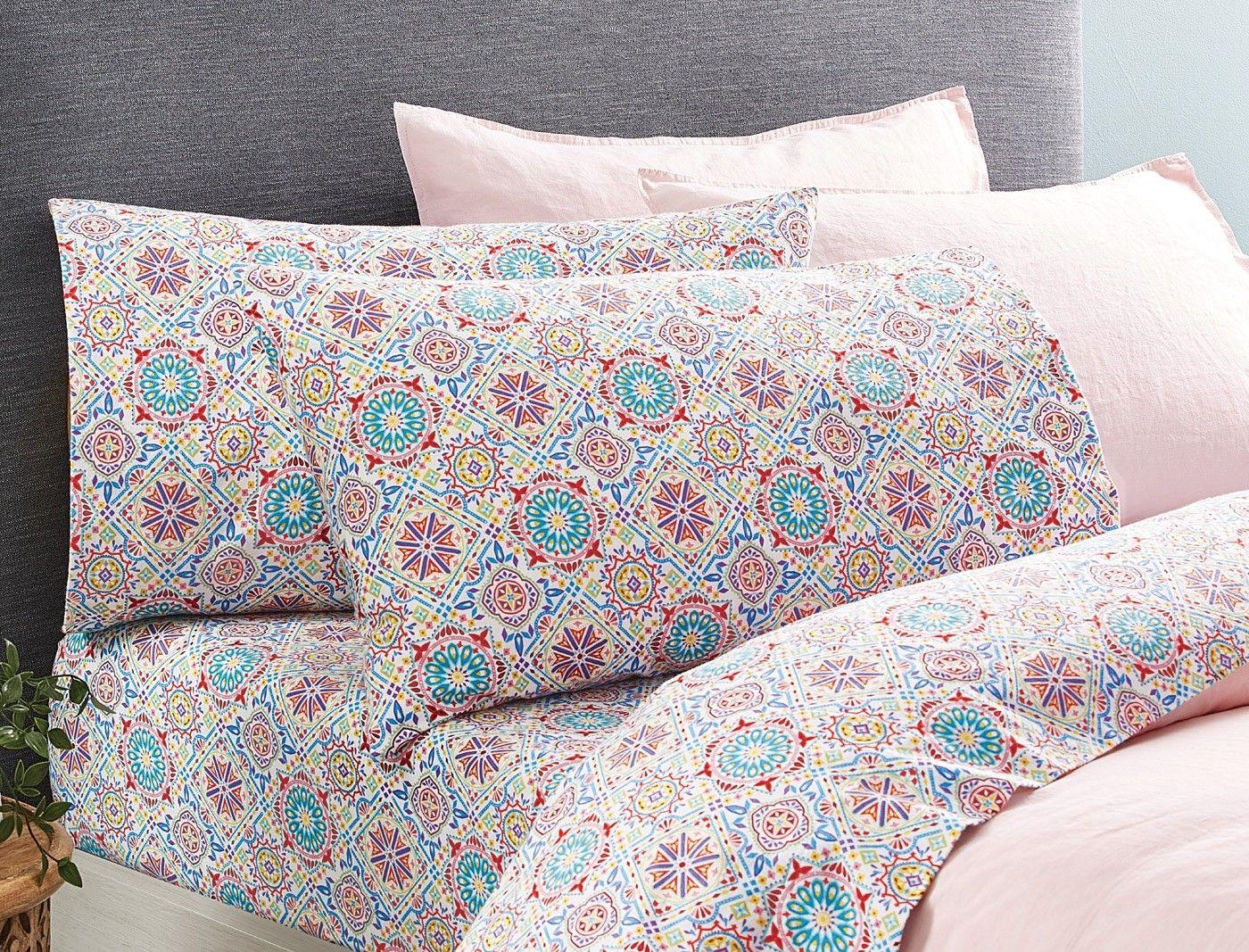 Mosaic Flannelette Sheet Set Bed Bath N' Table